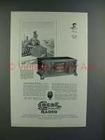 1928 Grebe Synchrophase Seven Radio Ad - Surmounting