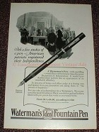 1925 Waterman's Ideal Fountain Pen Ad, American Patriot