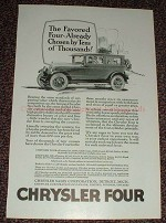 1925 Chrysler Four Car Ad, Already Chosen by Thousands!