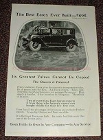 1925 Essex Car Ad - The Best Essex Ever Built - $895!!