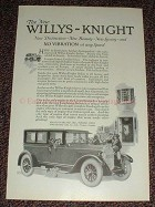 1925 Willys-Knight Sedan Ad, No Vibration at any Speed!