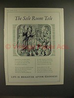 1956 Guinness Beer Ad - The Sale Room Tale