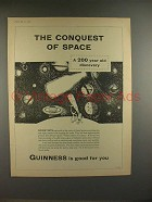 1958 Guinness Beer Ad - Conquest of Space