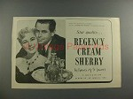 1955 Regency Sherry Ad w/ Eleanor Parker, Glenn Ford
