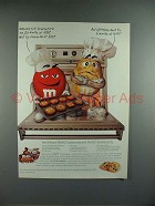 1997 M&M's Candy Ad w/ Red & Yellow - Baking Tip