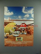 2000 M&M's Candy Ad w/ Red & Yellow - Easter