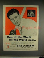 1956 Brylcreem Hairdressing Ad w/ Cricket Player