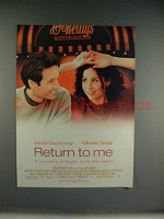 2000 Return to Me Movie Ad - David Duchovny