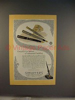 1928 Sheaffer's Lifetime Pen Ad - Substantial