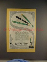 1928 Sheaffer's Lifetime Pen Ad - World's Applause