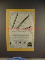 1930 Sheaffer's Lifetime Pen Ad - Willing Service