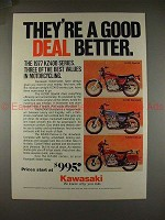 1977 Kawasaki KZ400 Motorcycle Ad, a Good Deal Better!!