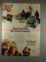 1978 Ski Doo Everest 444 L/C Snowmobile Ad, 'Doo Style!
