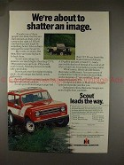 1978 International Harvester Scout Ad, Shatter Image!