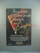 1952 Sheaffer's TM Pen Ad - More People Switch!