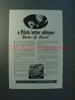 1943 WWII Buick Engines Ad - A Pilot's letter advises