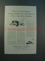 1930 Cadillac Car Ad - True Economy in Purchase
