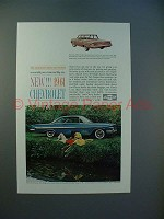 1961 Chevrolet Biscayne, Impala Sport Coupe Car Ad!