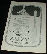 1923 Alvin Silver Co., Richmond Pattern Ad!!!