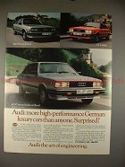 1983 Audi 5000 Turbo Diesel, GT Coupe & 4000 Sedan Ad!!