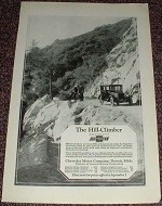 1923 Chevrolet Car Ad, Hill-Climber NICE!!!