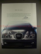2000 Jaguar S-type Car Ad - Yes You Can, NICE!!