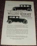 1923 Willys-Knight 7 & 5 Passenger Sedan Ad!!