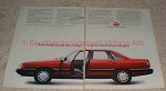 1986 Audi 5000S Car 2-page Ad, Little Peace and Quiet!
