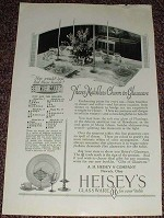 1927 Heisey's Glassware Ad, Matchless Charm!!