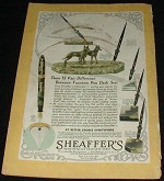 1931 Sheaffers Desk Pen Sets Ad, NICE!!