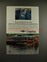 1968 Chevrolet Caprice Coupe Car Ad - Popular Price