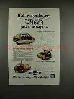 1971 Chevrolet Kingswood, Vega, Concours Wagon Ad
