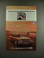 1973 Chevrolet Caprice Coupe Car Ad - Distinguished