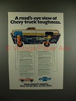 1975 Chevrolet Chevy Trucks Ad - View of Toughness