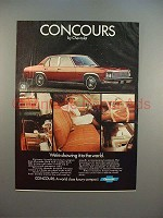 1977 Chevrolet Concours Car Ad - Showing The World