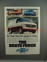 1979 Chevrolet Chevy Van Sport Ad - Earned Stripes!