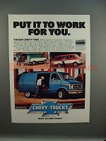 1979 Chevrolet Chevy Van Ad - Put it To Work For You!