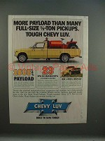 1979 Chevrolet Chevy LUV Truck Ad - More Payload!