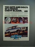1980 Chevrolet Chevy Blazer Ad - The Guts and Bolts!