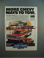 1980 Chevrolet Chevy Trucks Ad - More Ways to Tow