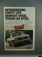 1981 Chevrolet Chevy LUV 4WD & 2WD Pickup Truck Ad!