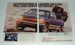 1987 Chevrolet Chevy Extended Cab Pickup Truck Ad