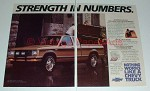 1987 Chevrolet S-10 Maxi-Cab Pickup Truck Ad - Strength