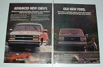 1988 Chevrolet Pickup Ad - New Chevy, Old Ford