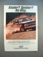 1991 Chevrolet S-10 Tahoe 4x4 Truck Ad - Kinder?