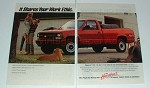 1991 Chevrolet Chevy W/T 1500 Truck Ad - Work Ethic