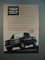 1994 Chevrolet Full-Size Pickup Truck Ad - Workaholic