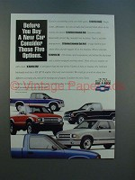 1994 Chevy S-series Base, Extended 4x4, SS ZR2 Truck Ad