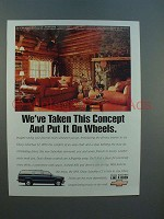1995 Chevrolet Chevy Suburban LT Ad - Put it on Wheels