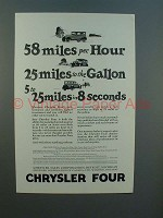 1926 Chrysler Four Car Ad - 58 Miles Per Hour